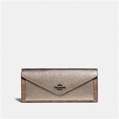 Fashion 4 Coach SOFT WALLET IN COLORBLOCK SIGNATURE CANVAS