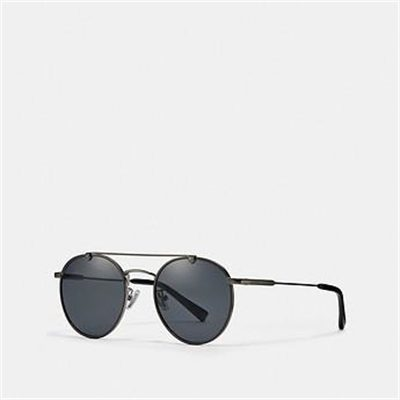Fashion 4 Coach THIN METAL ROUND SUNGLASSES