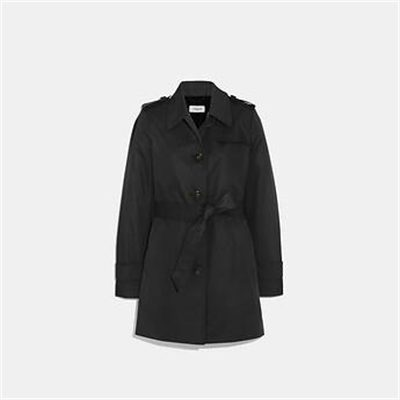 Fashion 4 Coach TIE WAIST TRENCH