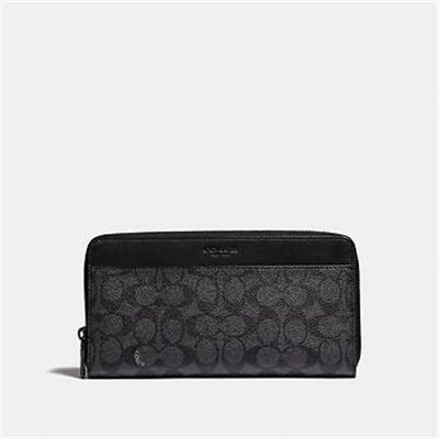Fashion 4 Coach TRAVEL WALLET IN SIGNATURE CANVAS
