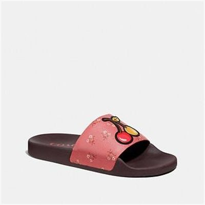 Fashion 4 Coach UDELE SPORT SLIDE WITH FLORAL BOW PRINT