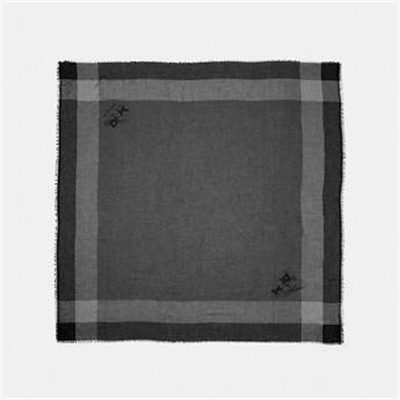 Fashion 4 Coach YEAR ROUND WINDOWPANE CHALLIS SCARF