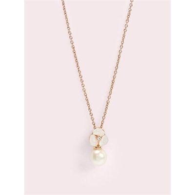 Fashion 4 - disco pansey pearl mini drop pendant
