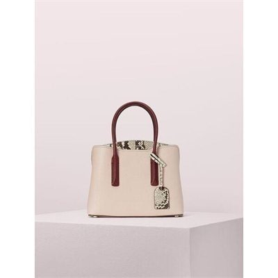 Fashion 4 - margaux embossed snake medium satchel