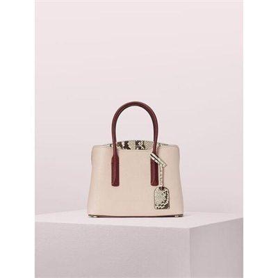 Fashion 4 - margaux embossed snake medium satchel