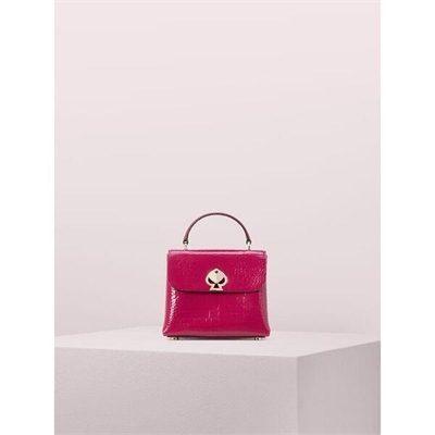 Fashion 4 - romy croc-embossed mini top-handle satchel