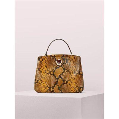 Fashion 4 - romy snake-embossed medium satchel
