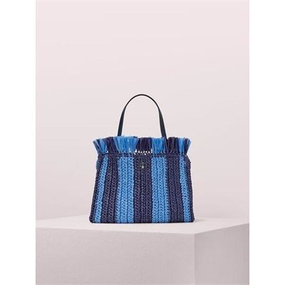Fashion 4 - sam stripe straw medium satchel