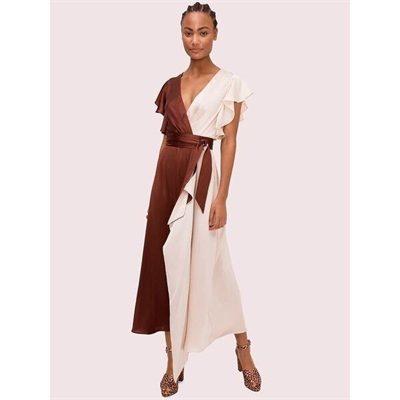 Fashion 4 - satin colorblock dress