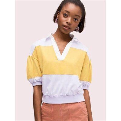 Fashion 4 - stripe polo knit tee