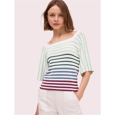 Fashion 4 - striped square neck sweater