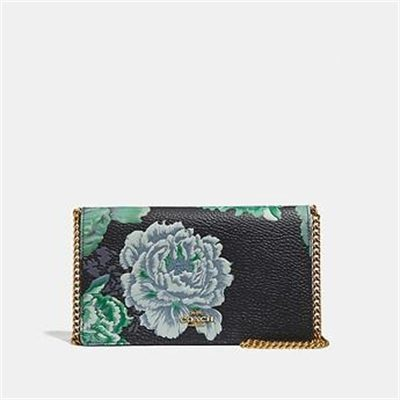 Fashion 4 Coach CALLIE FOLDOVER CHAIN CLUTCH WITH KAFFE FASSETT PRINT