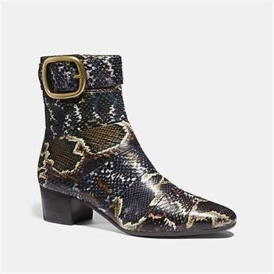 Fashion 4 Coach CASSANDRA BOOTIE IN SNAKESKIN