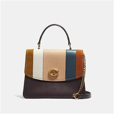Fashion 4 Coach PARKER TOP HANDLE WITH PATCHWORK STRIPES