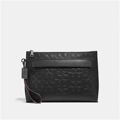 Fashion 4 Coach POUCH IN SIGNATURE LEATHER