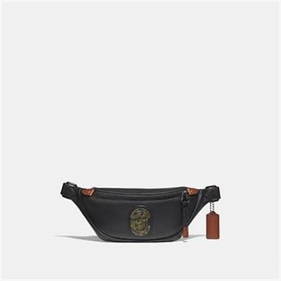 Fashion 4 Coach RIVINGTON BELT BAG 7 WITH KAFFE FASSETT COACH PATCH