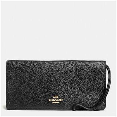 Fashion 4 Coach SLIM WALLET IN POLISHED PEBBLE LEATHER