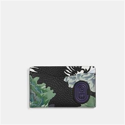 Fashion 4 Coach SMALL CARD CASE WITH KAFFE FASSETT PRINT