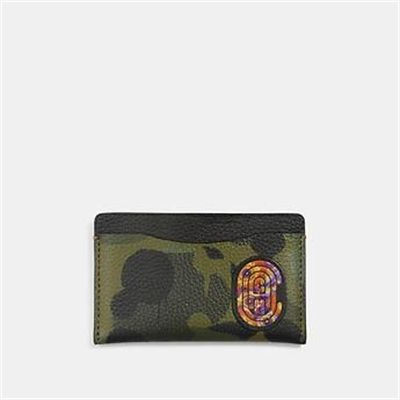 Fashion 4 Coach SMALL CARD CASE WITH WILD BEAST PRINT AND KAFFE FASSETT COACH PATCH