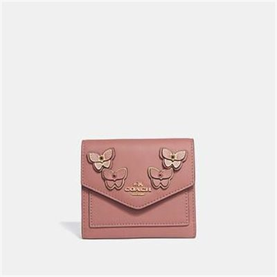 Fashion 4 Coach SMALL WALLET WITH BUTTERFLY APPLIQUE