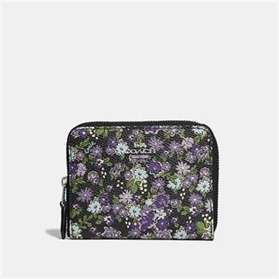 Fashion 4 Coach SMALL ZIP AROUND WALLET WITH POSEY PRINT