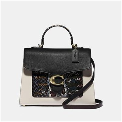 Fashion 4 Coach TABBY TOP HANDLE IN COLORBLOCK SNAKESKIN
