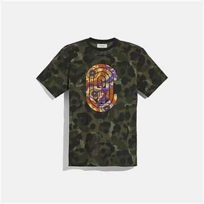 Fashion 4 Coach WILD BEAST COACH T-SHIRT WITH KAFFE FASSETT PRINT
