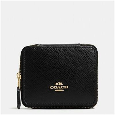 Fashion 4 Coach JEWELLERY BOX IN CROSSGRAIN LEATHER