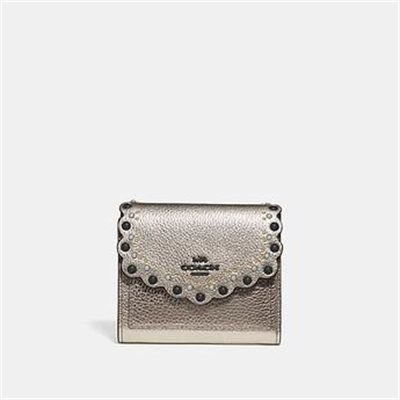 Fashion 4 Coach SMALL WALLET WITH SCALLOP RIVETS