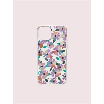 Fashion 4 - jeweled clear wallflower iphone 11 pro case