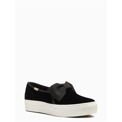 Fashion 4 - keds x kate spade new york triple decker velvet bow sneakers