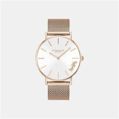 Fashion 4 Coach PERRY ROSE GOLD MESH BAND WATCH