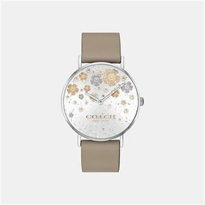 Fashion 4 Coach PERRY STONE LEATHER STRAP WATCH