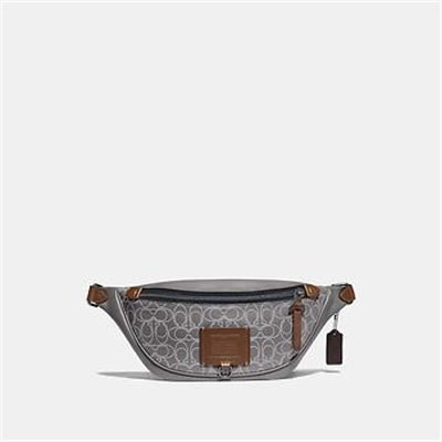 Fashion 4 Coach RIVINGTON BELT BAG IN REFLECTIVE SIGNATURE LEATHER