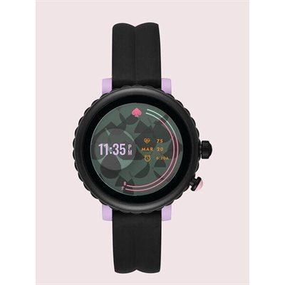 Fashion 4 - black silicone scallop sport smartwatch