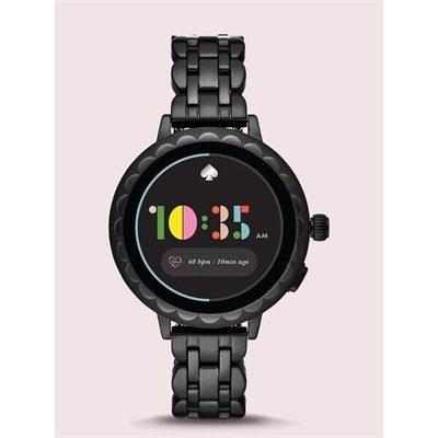 Fashion 4 - black stainless steel scallop smartwatch 2