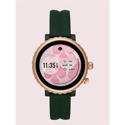 Fashion 4 - green silicone scallop sport smartwatch