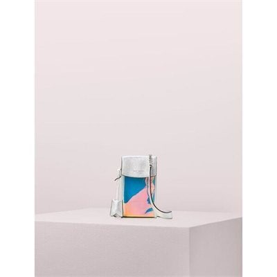 Fashion 4 - iridescent flap phone crossbody