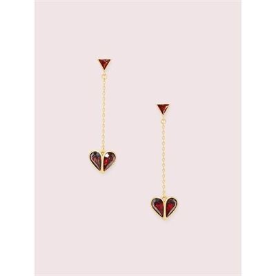 Fashion 4 - rock solid stone heart drop earrings