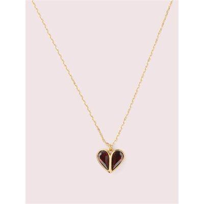 Fashion 4 - rock solid stone heart mini pendant