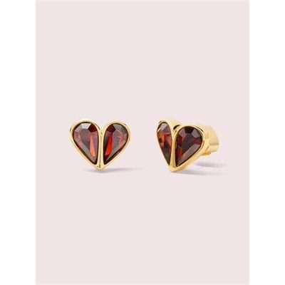 Fashion 4 - rock solid stone small heart studs
