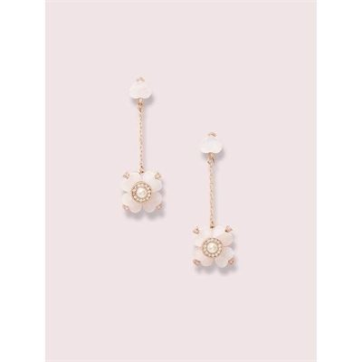 Fashion 4 - spade flower linear earrings