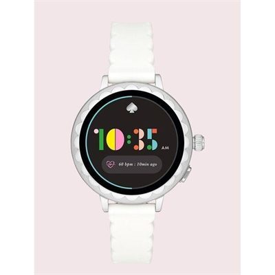 Fashion 4 - white silicone scallop smartwatch 2