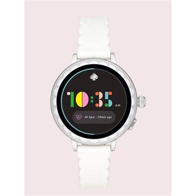 Fashion 4 - white silicone scallop smartwatch 2