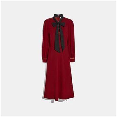 Fashion 4 Coach BOW NECK DRESS