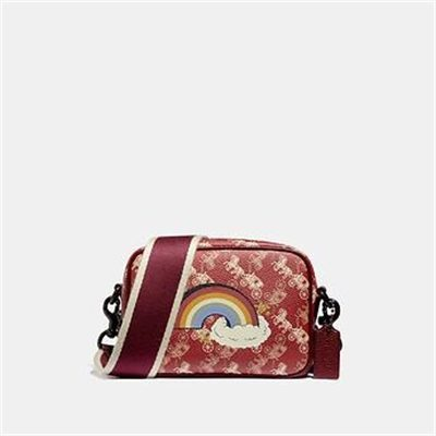 Fashion 4 Coach CAMERA BAG 16 WITH HORSE AND CARRIAGE PRINT AND RAINBOW