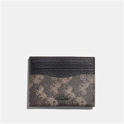 Fashion 4 Coach CARD CASE WITH HORSE AND CARRIAGE PRINT