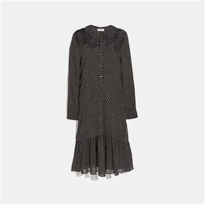 Fashion 4 Coach DOT GEORGETTE PLEATED DRESS