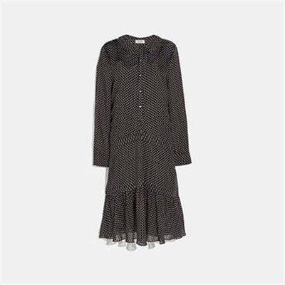Fashion 4 Coach DOT GEORGETTE PLEATED DRESS