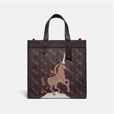 Fashion 4 Coach FIELD TOTE WITH HORSE AND CARRIAGE PRINT AND UNICORN